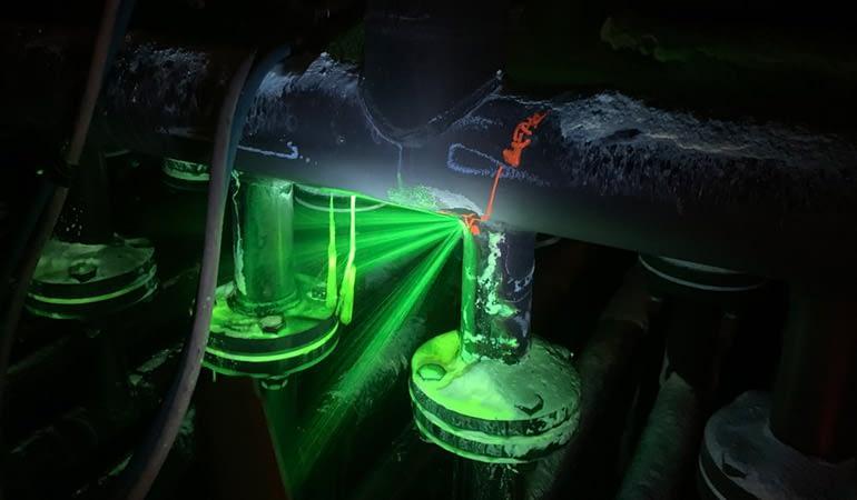 Leak Testing Fluorescein